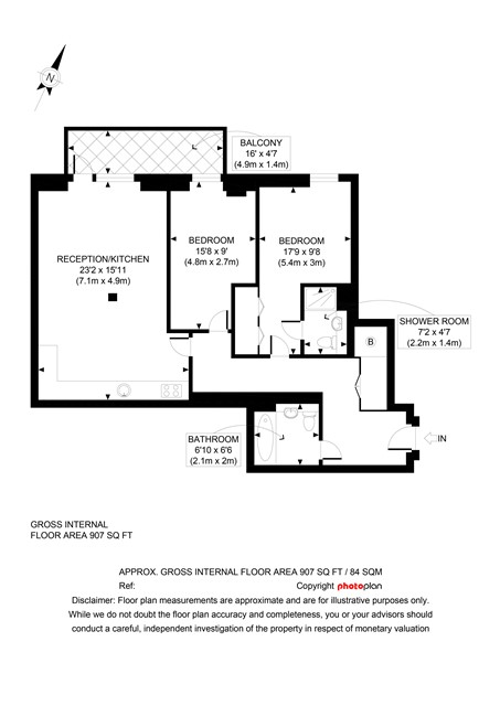 Cyan Apartments 2 bedroom floorplan