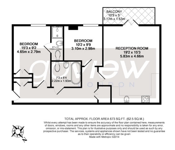 Dominion House Two bedrooms floorplan